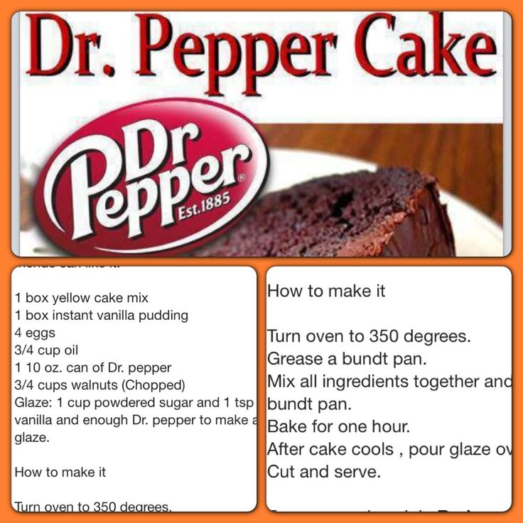 Dr Pepper Cake Recipe