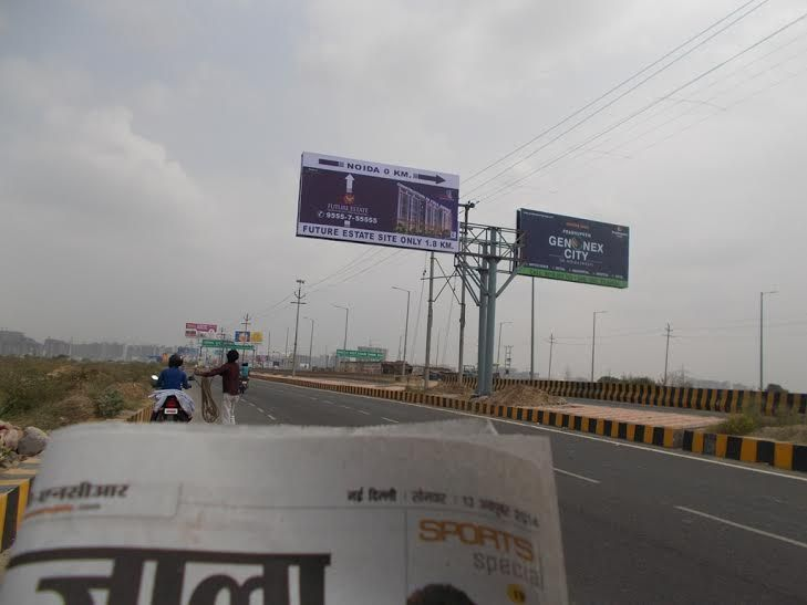 On Sector-78 (Noida) Bridge.. #futureworldcare