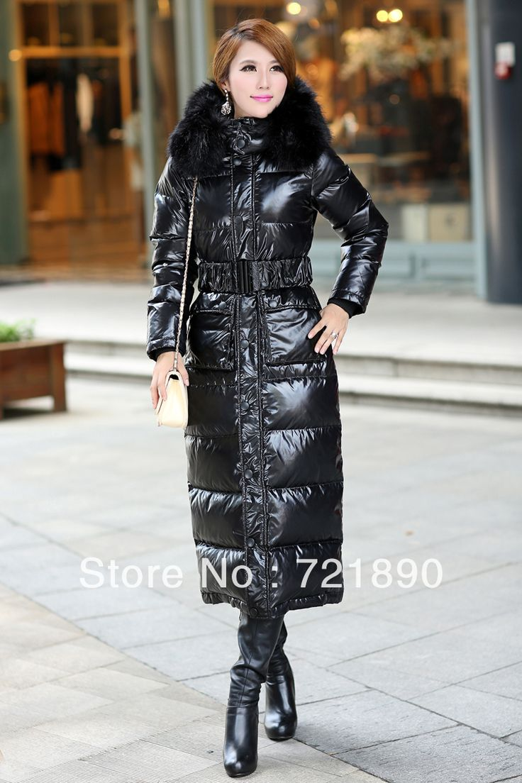 long down coats for women black