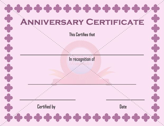 11 best anniversary certificate images on pinterest for Wedding anniversary certificate template