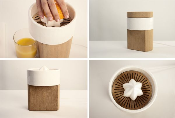 Natalia Cole's sustainable Edwin fruit squeezer