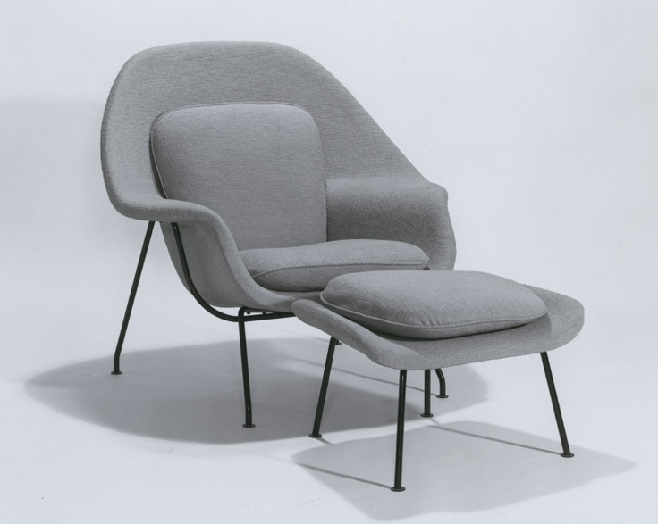 Womb chair and ottoman eero saarinen knoll associates for Knoll and associates