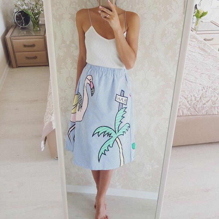 Tangada Высокая Талия птица печати 2017 юбки женские Полосатая юбка эластичный пояс юбки женские винтажные летняя юбка saias SY47 купить на AliExpress