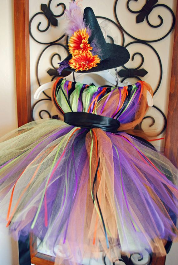Boutique Toddler Witch Costume and Witch Hat