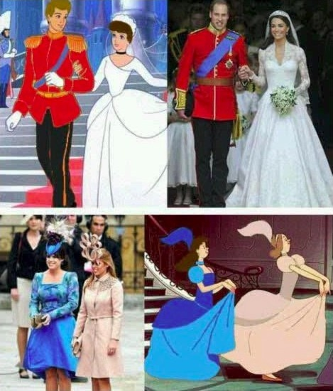 Sometimes, life imitates art ...  and it's just not funny!: Thoughts, Real Life, Too Funny, Kate Middleton, Cinderella Wedding, Royals Wedding, Prince Charms, Fairies Tales, Disney Movie