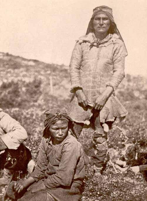 An Innu Hunter from Northern Labrador Wearing a Caribou-skin Coat, ca. 1910