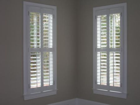 Interior Shutters With Fabric Inserts Marietta Shutters Plantation Shutters Window