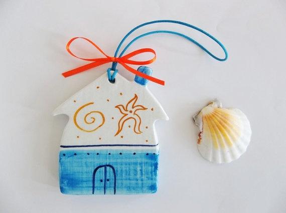 Blue Aegean ceramic little house