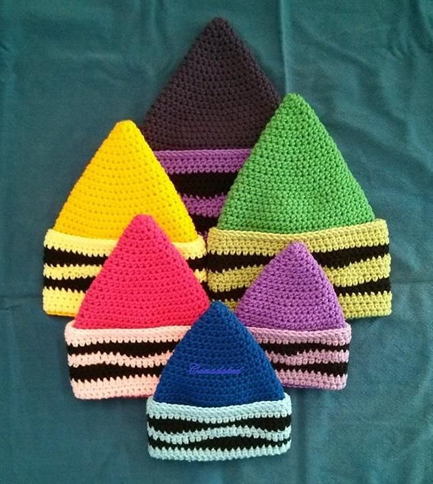 Crayon hat crochet pattern by Canadaked Designs on LoveCrochet
