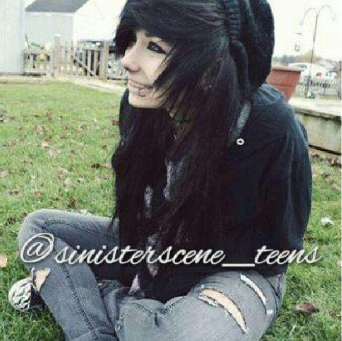 Black scene hair instagram