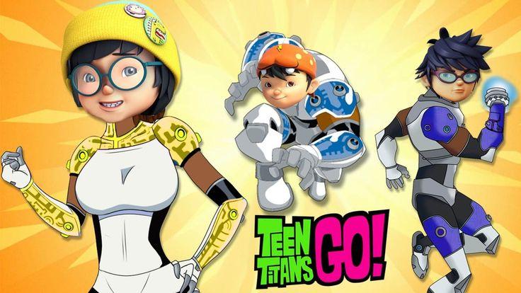 BoBoiBoy Galaxy Transforms Into Teen Titans Finger Family Song Boboiboy ...