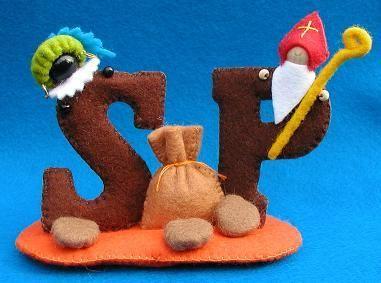chocoladeletters van vilt (sinterklaas)