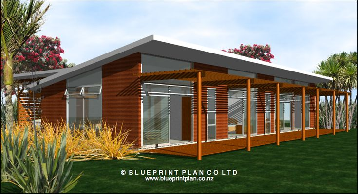 Modern beach bach floor plan google search 11 dvc for Small home designs nz