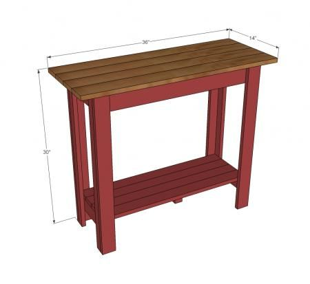 Plans For A Thin Console Table That Might Work In Our
