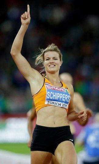 Dafne Schippers wint goud op de 100 en 200 meter sprint op het EK Atletiek in Zurich 2014.