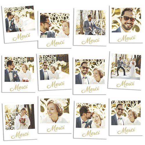remerciement de mariage original pola magntique httpwwwcarteland - Carte Remerciement Mariage Pas Cher