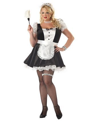 Fiona the French Maid Adult Plus Costume   Plus Size French Maid Halloween Costumes