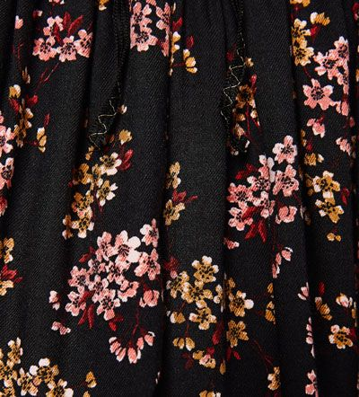 Image 4 of Flowing floral Bermuda shorts from Zara