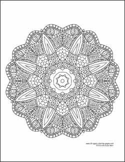 Talk About An Intricate Design Kaleidoscope Coloring Page All