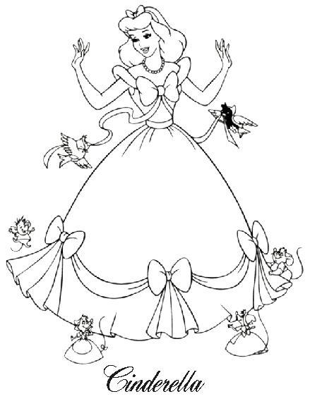 Disney Coloring Pages - Cinderella  1