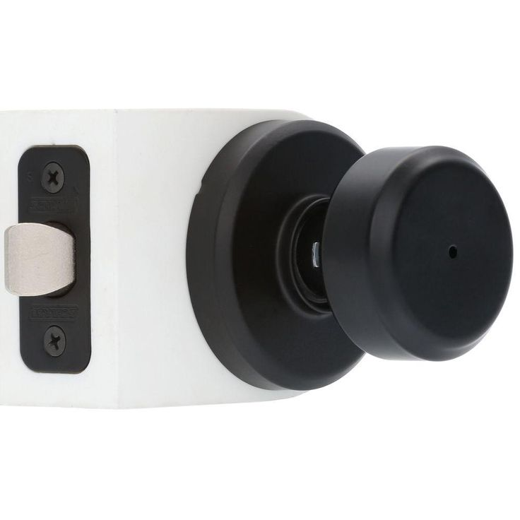 Schlage Greyson Matte Black Bowery Privacy Lock Knob