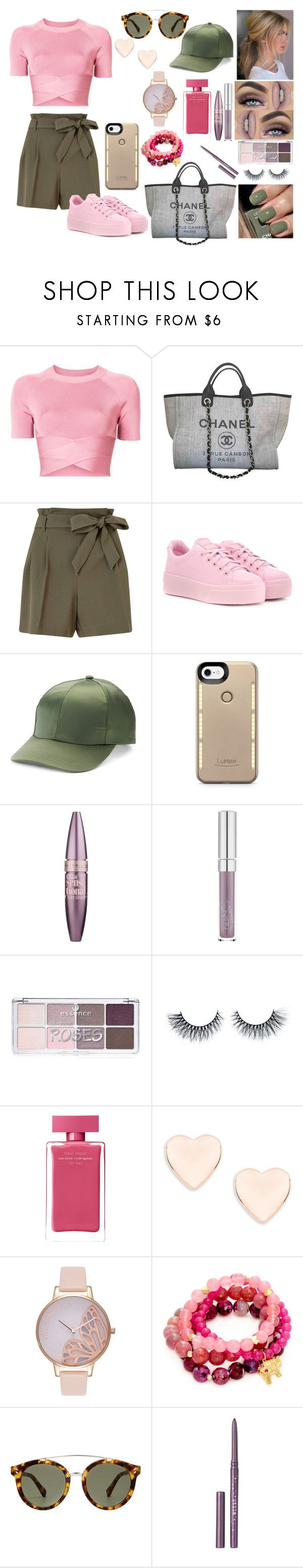 """""""Pink"""" by nicks-1 on Polyvore featuring moda, T By Alexander Wang, Chanel, Miss Selfridge, Kenzo, Mudd, LuMee, Maybelline, Forever 21 e Narciso Rodriguez"""