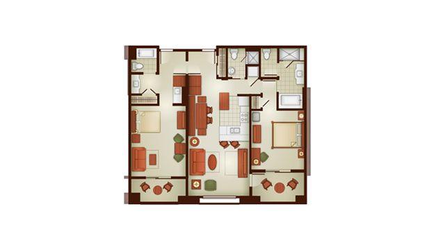 The villas at disney 39 s grand californian hotel spa 2 - Disney grand californian 2 bedroom suite ...