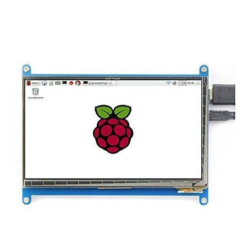 Juvtmall HDMI Display Monitor 7 Inch 1024x600 HD TFT LCD Model with Touch Function for Raspberry Pi B+/2B Raspberry Pi 3,Banana Pi/Pro,Beagle Bone Windows 7/8/10