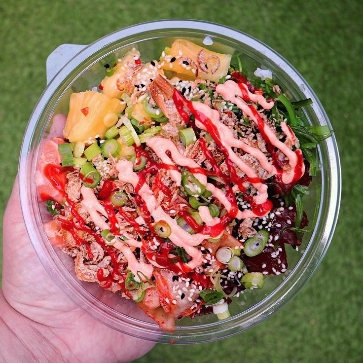 this Bowl of tuna and salmon poke from @islandpokeuk. Its hard to believe that its only been a year since the lovely peeps at #IslandPoke started spread a little Hawaiian sunshine in Soho with bowls of fresh bright flavour.  Happy Birthday! . . #poke #pokebowl #likeagoodpoke #kinglycourt