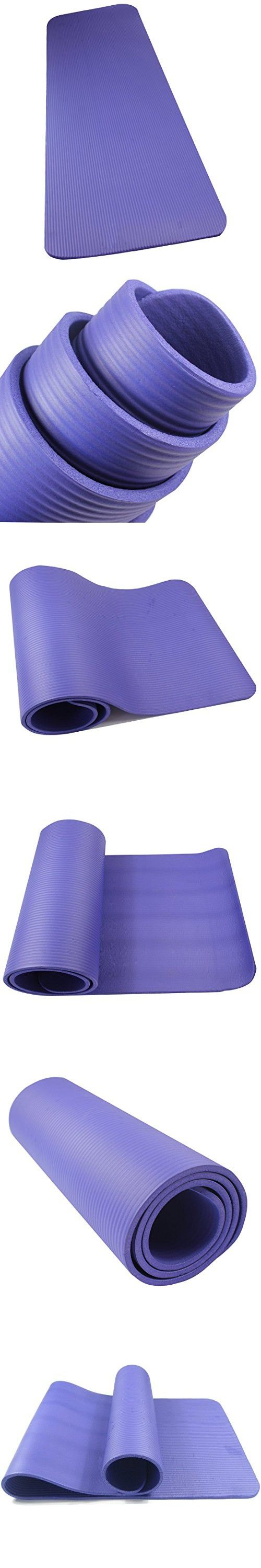 Amyup 1/2-inch Extra Thick 72-inch Long NBR High Density Anti-tear Non-slip Yoga Mat in Color Purple, Exercise Mat for Exercise Fitness Pilates