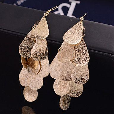 Oorbel Bladvorm Druppel oorbellen Sieraden 2 stuks Bruiloft / Feest / Dagelijks / Causaal Legering Dames Gouden / Zilver - EUR € 0.97