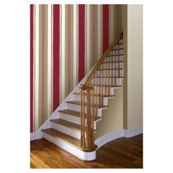 Arthouse Adelphi stripe red wallpaper