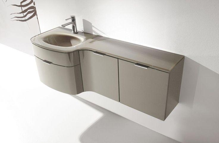 Arredo bagno design elegante, Mobili da bagno curvi  Progetto bagno  Pinterest  Bathroom ...