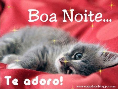 Foto de Boa Noite/Te Adoro para Compartilhar no Facebook