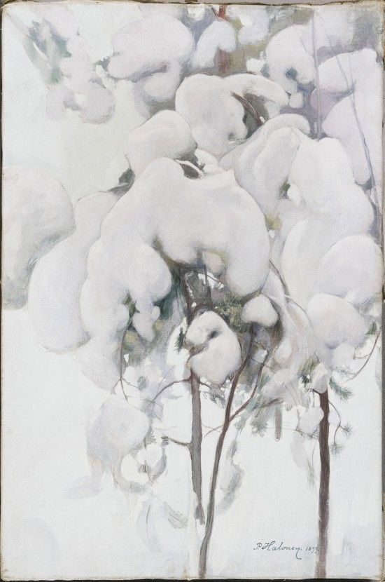 Pekka Halonen: Snow-Covered Pine Seedlings, 1899. Ateneum. Photo: Finnish National Gallery / Central Art Archives / Hannu Pakarinen.