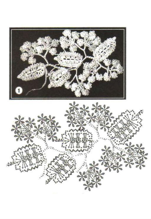 diagram 39Irish Crochet, Lace Pattern, Crochet Flower, Crochet Diagram, Crochet Irish, Leaves Crochet, Crochet Crafts, Irish Lace, Crochet Patterns