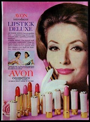 Vintage 1961 Avon Cosmetics Lipstick Deluxe Magazine Ad