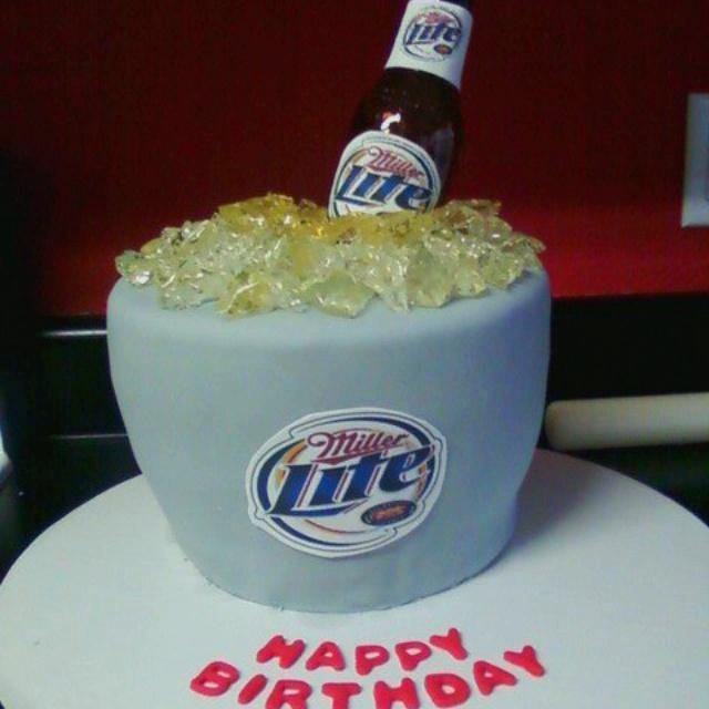 Miller Lite Cooler Cake Custom Cakes T Miller Lite Cake