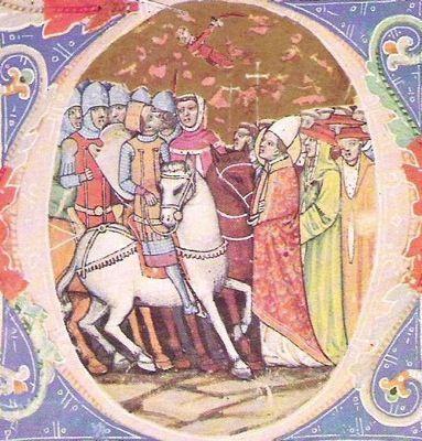Attila meeting Pope Leo the Great.