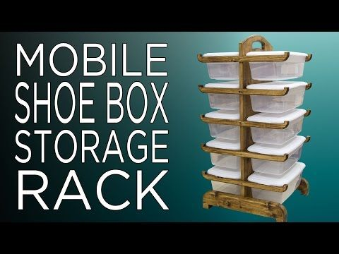 Plastic Shoe Box Organizer Rack | Jays Custom Creations