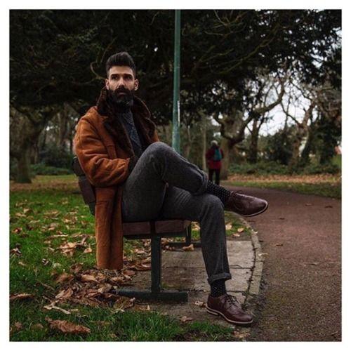 Stig Percy's inspiring friend @roque_80 wearing Swedish footwear label Stig Percy's brown Stig 1
