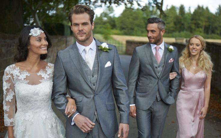 Our silver mohair lounge suit, Knighton. #groom #weddingsuits #greysuit #groomsmen