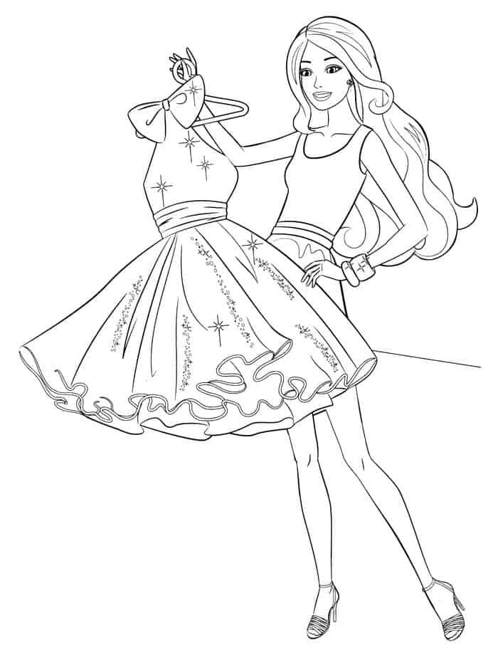Barbie Picking Dress Coloring Pages Barbie Coloring Pages Princess Coloring Pages Barbie Coloring