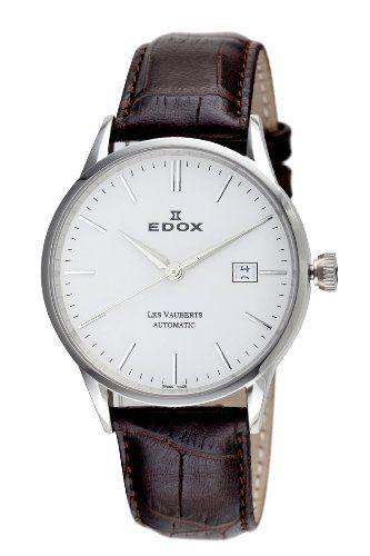 Edox Herren 80081 3 AIN Automatic Date Les Vauberts Uhr - http://uhr.haus/edox/edox-herren-80081-3-ain-automatic-date-les-uhr