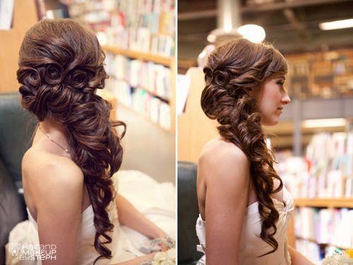 Belle inspired hair