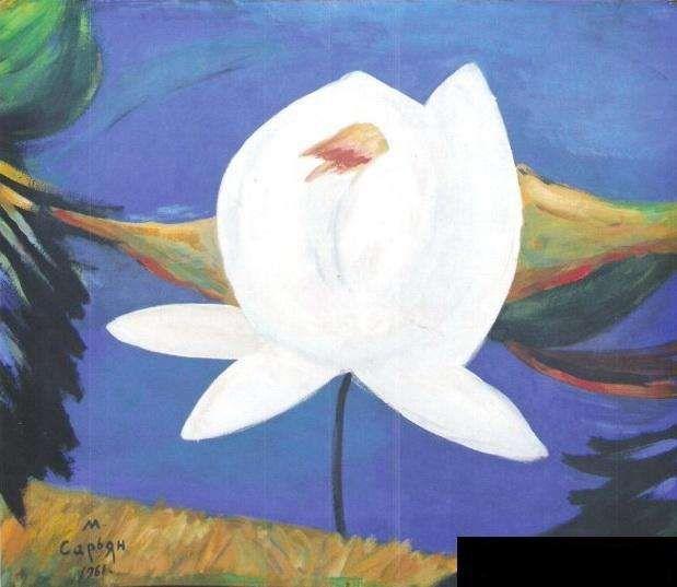 1961 Натюрморт. Бумага, гуашь. 50х50 (Сарьян q) - Сарьян Мартирос Сергеевич