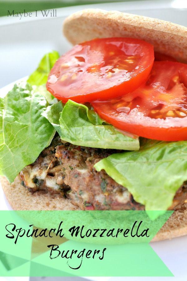 spinach mozzarella burgers water spinach beef burgers mozzarella ...