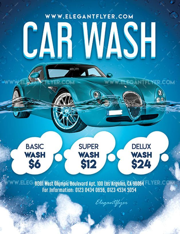 Car wash download free psd flyer stockpsd.