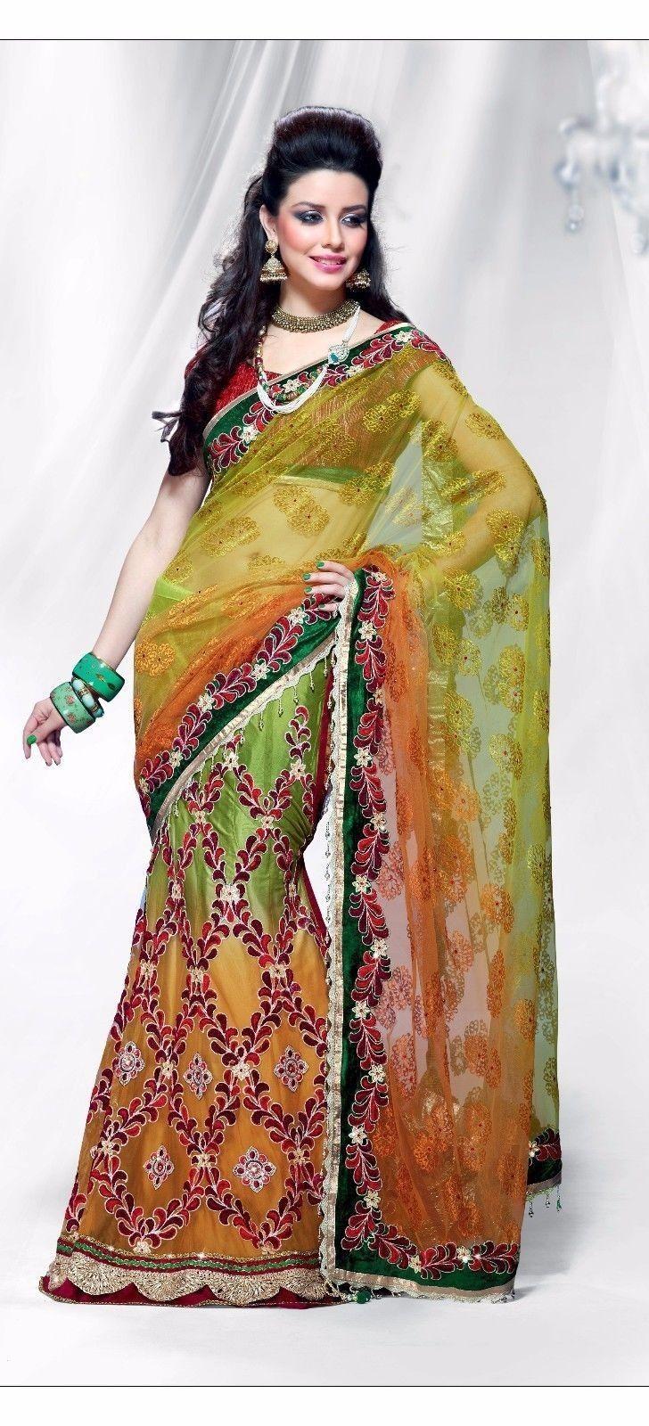 Cool Awesome Sari Lehenga Partywear Indian Ethnic Pakistani Saree Wedding Dress8034  2017/2018 Check more at http://shop24.ga/fashion/awesome-sari-lehenga-partywear-indian-ethnic-pakistani-saree-wedding-dress8034-20172018/