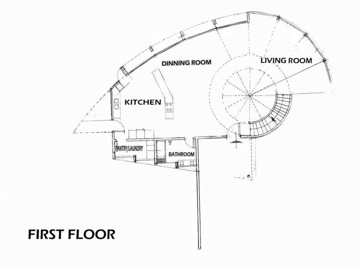 Nautilus house first floor plans by hugo s rosas rello for Nautilus garden designs